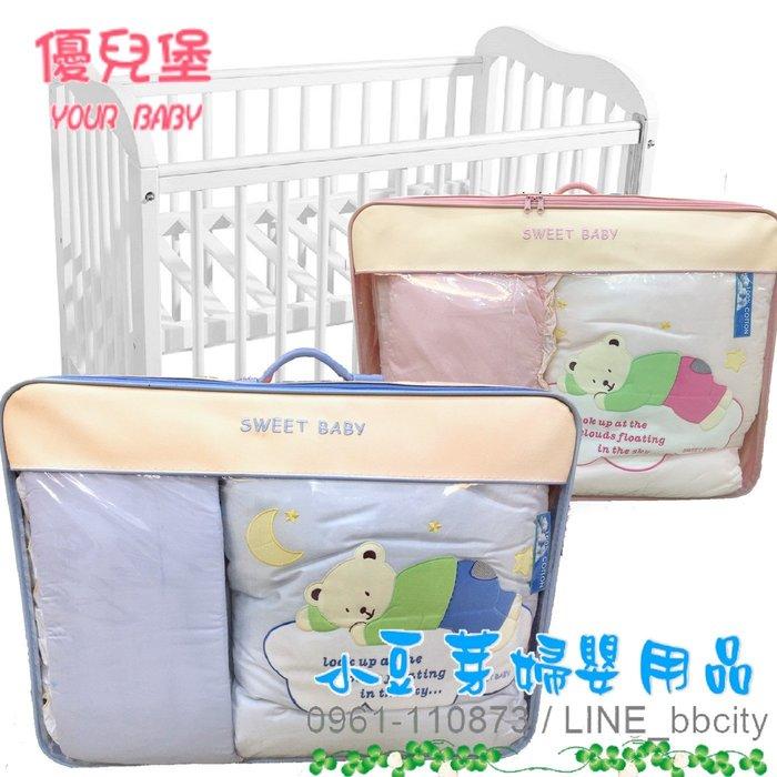 SWEET BABY 寢具組/七件組_大床 §小豆芽§ SWEET BABY 雲熊嬰兒床七件組_L