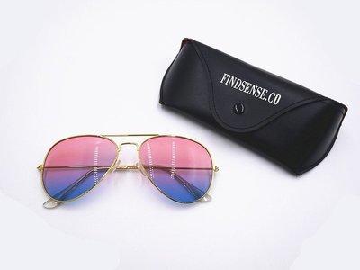 FINDSENSE 漸層  冰淇淋 金屬 太陽眼鏡 遮陽 防曬  歐美 眼鏡