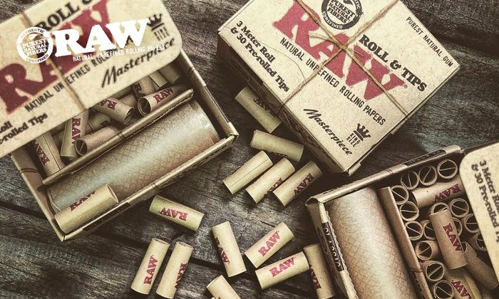 GOODFORIT/ 西班牙 RAW Masterpiece Rolls With Tips 無切割紙捲+預捲濾嘴