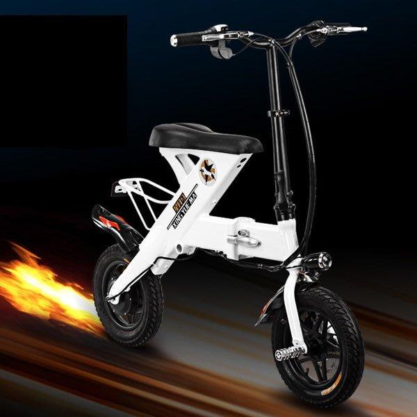 5Cgo【批發】含稅會員有優惠 527000164550 代駕智能折疊電動車自行車折疊車锂電池學生代步車滑板車單車雙輪車