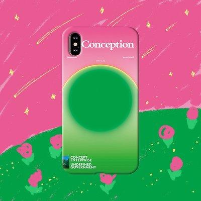 果果邦 Conception原創霓虹適用于iphone11蘋果12pro手機殼學生情侶撞色