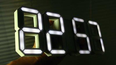 新竹 LED時鐘 掛鐘 靜音 工業風 電子鐘  夜光 數字鐘 復古 loft 科技 時尚鬧鐘