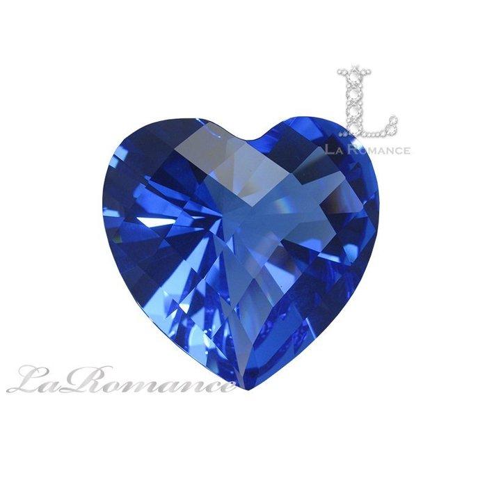 【芮洛蔓 La Romance】璀璨心型水晶鑽 – 寶藍色 / 富饒 / 虔誠 / 增強勇氣與智慧 / 求婚 / 情人節