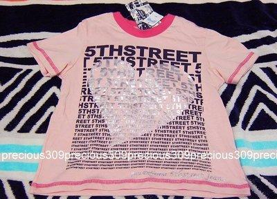 全新吊牌未拆edwin副牌5th STREET愛心滿版logo款純棉粉紅色女童裝短袖上衣T恤(4/ 100) 台北市