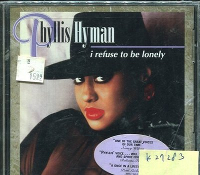*真音樂* PHYLLIS HYMAN / I REFUSE TO BE LONELY 全新 K27283
