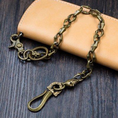 造夢師 手工製作  阿美咔嘰 復古 養牛鑰匙鏈 純黃銅 馬蹄扣 竹節骷髏 褲鏈 腰鍊