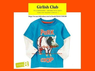 【Girlish Club】 Crazy 8男童5T長袖上衣T恤(c263)gap carter's大衣外套二七一元起標