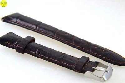 (六四三精品)進口高級真小牛皮錶帶..尺寸有24.22.20.18.16.14.12mm..