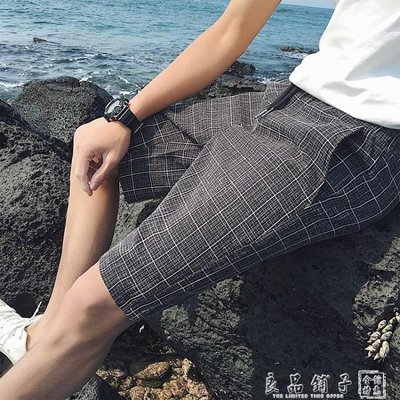 夏季男士運動休閒短褲夏天修身韓版五分褲馬褲沙灘褲大褲衩潮褲子