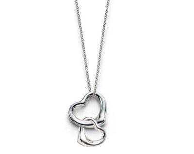 Melia 米莉亞代購 Tiffany&Co. 925純銀 Tiffany 蒂芙尼 項鍊 手環飾品 禮物 雙心鏤空