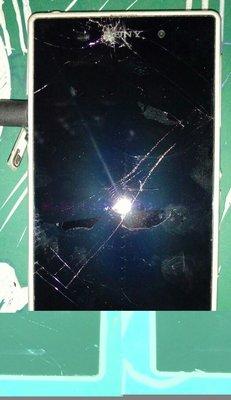 $${故障零件機}Sony Xperia Z1 C6902 白色 $$