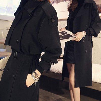大衣 時尚就是這麼簡單雙排釦加厚神祕感...