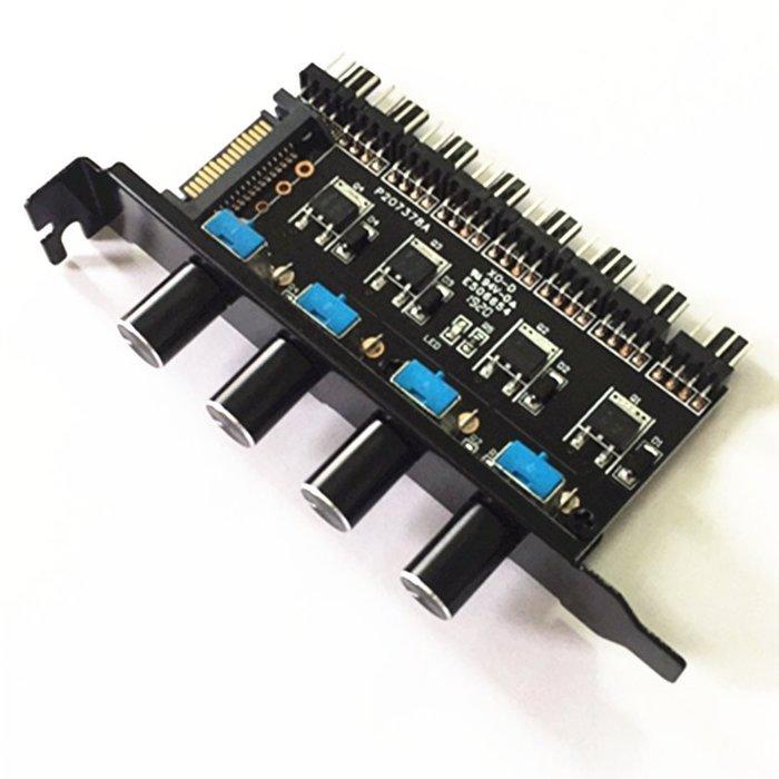 小白的生活工場*機箱 PCI 風扇調速器8路4旋鈕