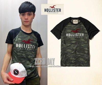 零時差美國時尚網A&F副牌HCO真品Hollister Colorblock Logo Graphic Tee短T迷彩