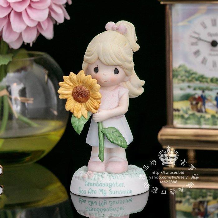 【吉事達】美國 Precious Moments 水滴娃娃2009年生日陶瓷裝飾擺飾 可愛陽光小公主