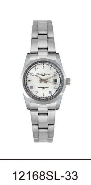 (六四三精品)Valentino coupeau(真品)(全不銹鋼)精準女錶(附保証卡)12168SL-33