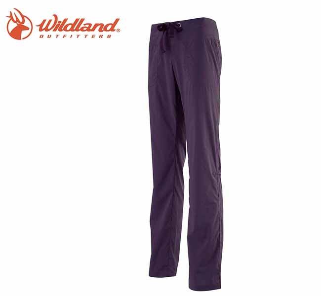 丹大戶外【Wildland】荒野 女彈性抗UV休閒長褲 0A11321-79 深紫色