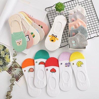 短襪 襪子女中筒襪短襪船襪女純棉淺口隱形硅膠防滑夏季韓國可愛學院風