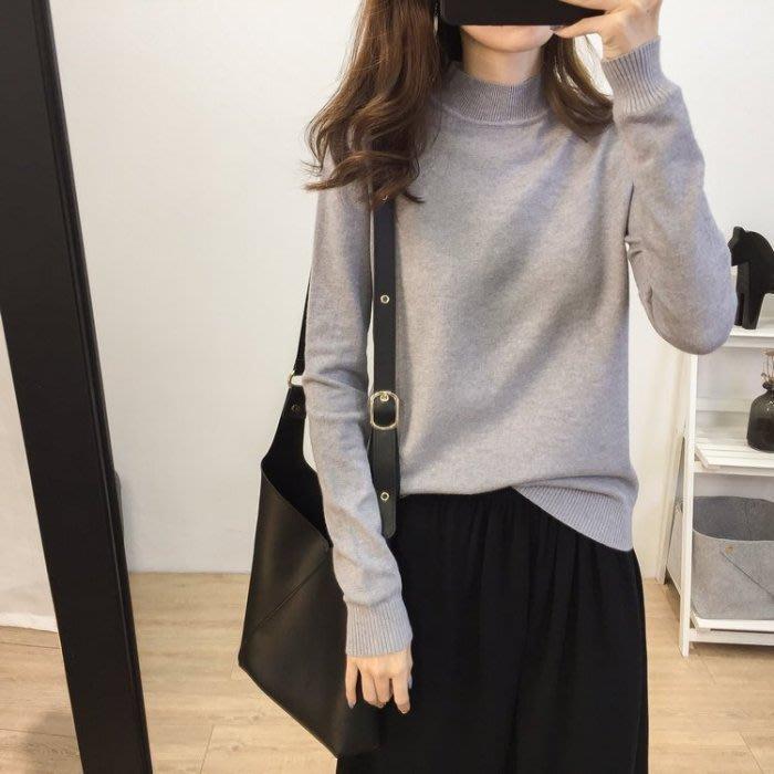 🌺 拿鐵小姐MISS LATTE🌺chic 基礎款純色針織衫 半高領 針織打底衫秋冬內搭毛衣