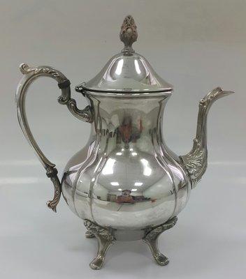 418高檔英國鍍銀壺組 Vintage Silverplate Ornate teapot (26.5公分高)