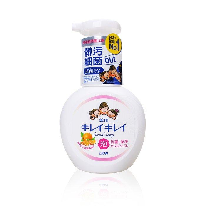 日本 獅王 趣淨洗手慕斯-清爽柑橘 250ml (兒童寶寶抗菌抑菌洗手乳慕絲)【DDBS】