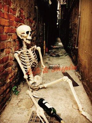 (生活小舖)經濟款 165cm骷髏全身人體骨骼模型 萬聖布置 陳列鬼屋主題酒吧 角色扮演道具 現貨+預購