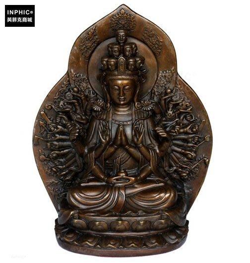 INPHIC-佛像 純銅千手觀音觀音菩薩佛像辦公室觀音像裝飾品_S01875C