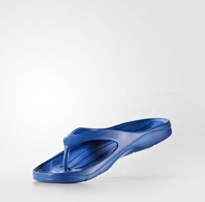 帝安諾-ADIDAS DURAMO Y 運動拖鞋 人字拖 一體成形 男/女款 藍色 S80376