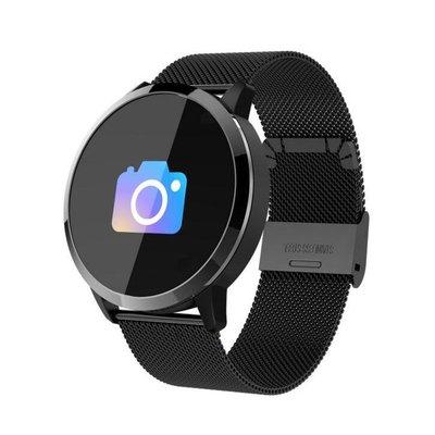 繁體中文 智能手環 Q8運動手環Line FB來電提醒心率血壓睡眠監測 防丟彩屏手環 男女手錶 智能手錶18086