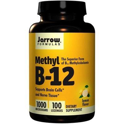 (100粒) 口含可嚼 美國Jarrow Formulas Methyl B-12  活性甲基維他命B12 素食 口內錠(1000 mcg)