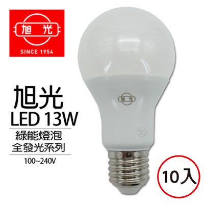 【Live168市集】旭光 13W綠能LED燈泡全發光系列(10入)-黃光