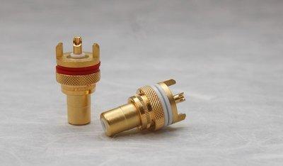 [山姆音響] 臺灣最頂尖 -- 類WBT型式鍍金 High End RCA母座/每對200元