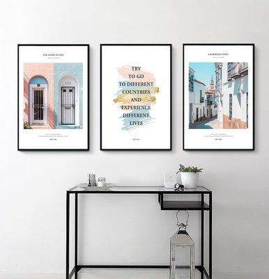ins熱銷北歐風格現代簡約清新裝飾畫芯字母粉色牆壁掛畫畫心(不含框)