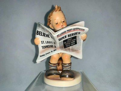 盒裝德國喜姆娃娃Goebel M.I.Hummel 編號184 Latest News TMK8 2000年超級盃限量版