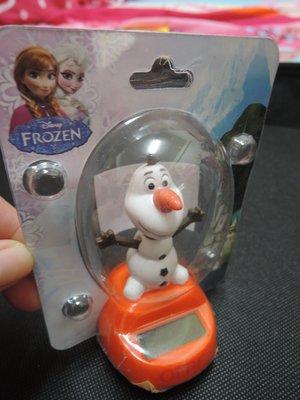 冰雪奇緣 雪寶 Olaf 太陽能 搖擺 公仔 娃娃