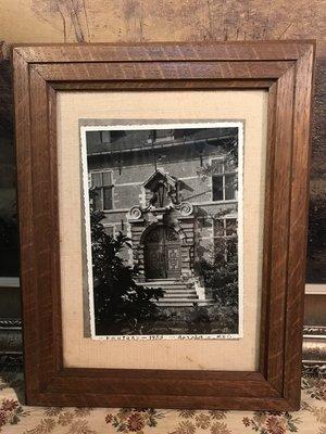 歐洲古物時尚雜貨 老照片+框1953年  擺飾品 古董收藏