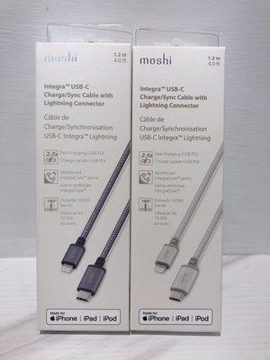 moshi 蘋果官方認證 Lightning to USB-C 耐用充電 / 傳輸編織線(1.2 m) 原廠正品