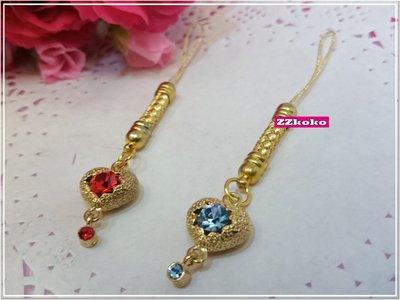 【ZZkoko】免運  韓國原裝進口 施華洛世奇 SWAROVSKI 水晶手機吊飾 手機吊飾 水晶吊飾 真心款 一對