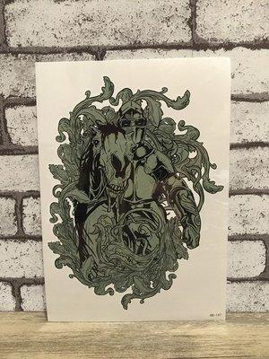 【萌古屋】騎馬盔甲武士手臂大圖 - 男女防水紋身貼紙刺青貼紙 HB-147