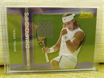 (記得小舖)Rafael Nadal 2007 英國公開賽 冠軍球衣卡 台灣現貨 非常稀少值得收藏