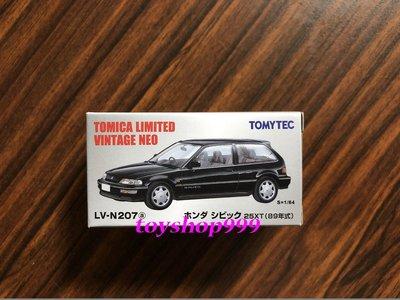 日本TOMYTEC LV-N207a(黑) 本田 CIVIC 25XT (999玩具店)