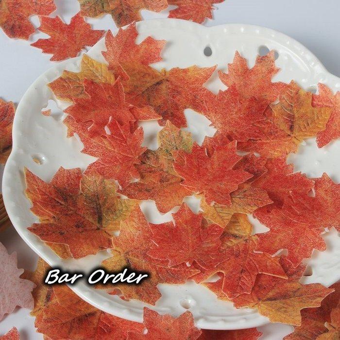 Bar Order~專業調酒/烘培用 糯米紙插飾楓葉 108片裝 超低價現貨