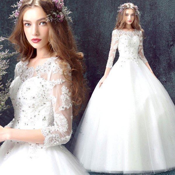 大小姐時尚精品屋~~仿明星款-新娘结婚敬酒服婚紗長禮服~3件免郵