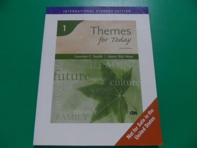大熊舊書坊- 1 Themes for Today Second Edition Smith Mare  內有書寫-68