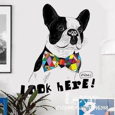 簡約臥室客廳書房裝飾品可愛狗狗牆貼紙個...