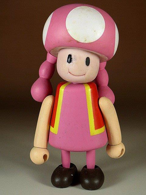 【 金王記拍寶網 】M324  SUPER MARIO 瑪莉歐系列 小木偶 公仔 奇諾比妹妹 一尊 罕見稀少