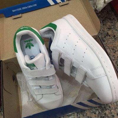 日本限定 愛迪達 Adidas Stan smith 白金 綠標 魔鬼氈 經典款 休閒 運動鞋 大童款 現貨20.5 台南市