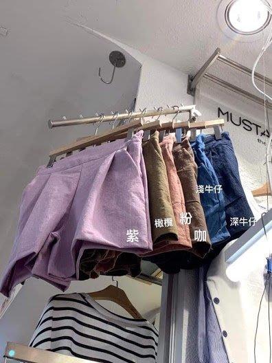 『※妳好,可愛※』韓國童鞋 韓國女裝 韓國 棉麻鬆緊 挺版短褲 (16色)
