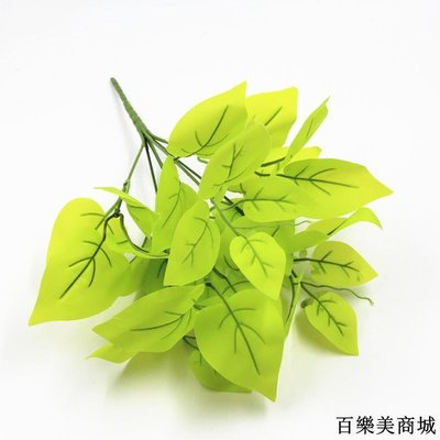 三件起出貨唷 仿真植物墻綠植背景墻門頭裝飾配材過膠葉子假花絹花綠蘿全店免運中
