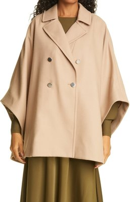 Donnata Double Breasted Wool & Cashmere Blend Cape TED BAKER